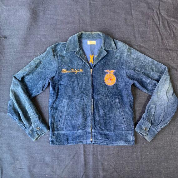 1970s Blue Corduroy FFA Jacket