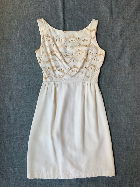 1950s Cream Cocktail Dress