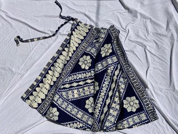 1970s Waltah Clarke's Wrap Skirt