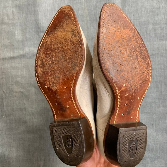 1950s White and Gold Cowboy Boots - image 7