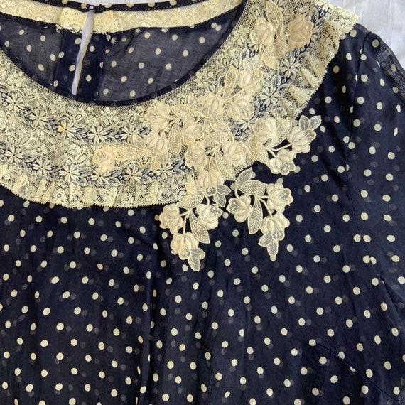 Early 1940s Polka Dot Dress - image 3