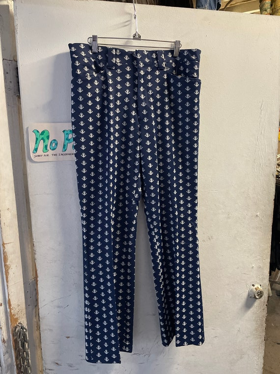 1970s Anchor Bell Bottom Pants - image 1