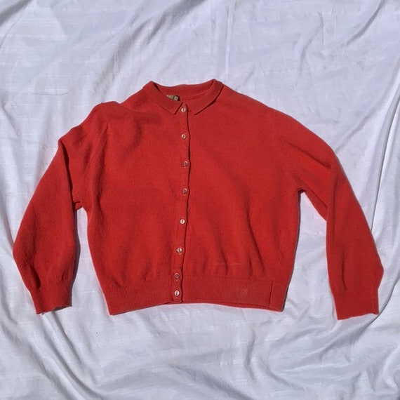 1950s Coral Pink Cardigan