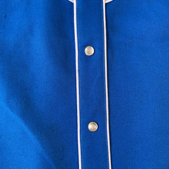 1970s H Bar C Blue And Grey Western Shirt - image 6