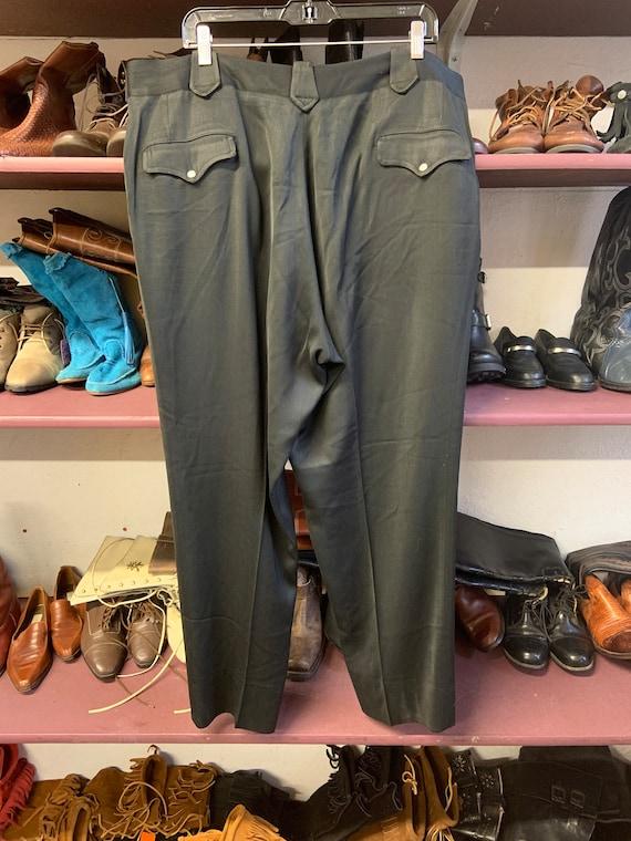 1950s Black Western Pants - image 2