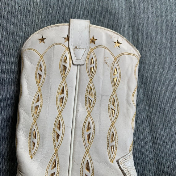 1950s White and Gold Cowboy Boots - image 2