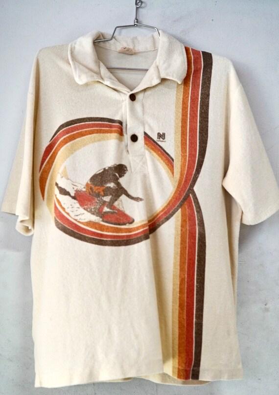 1970's Terry Cloth Surf Polo (XL)
