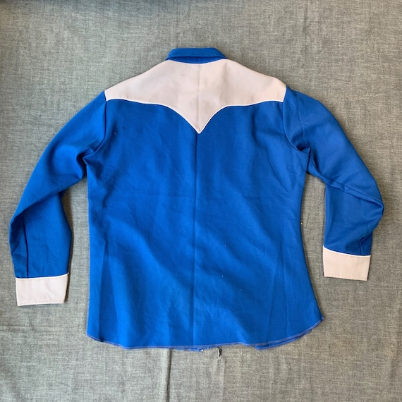 1970s H Bar C Blue And Grey Western Shirt - image 2
