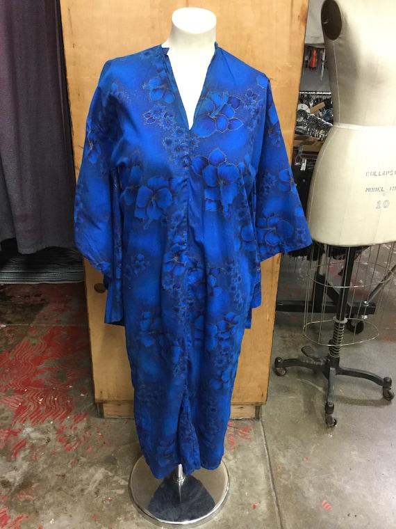 "Tiki Hawaiian Kimono ""Pake muu"" Style Dress"