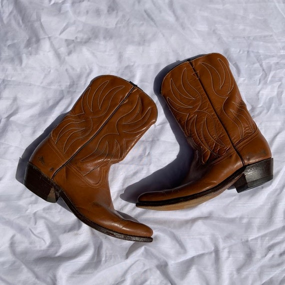 1950s Acme Brown Leather Cowboy Boots