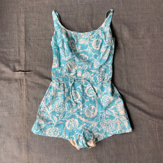 1960 Sky Blue Playsuit