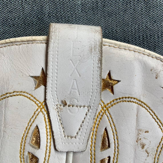 1950s White and Gold Cowboy Boots - image 3