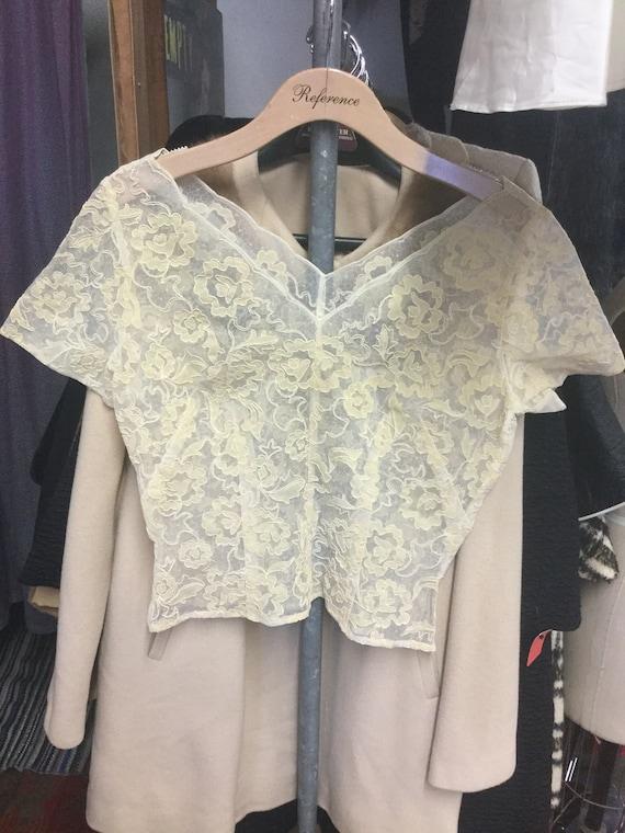 1960's Sheer Lace Ecu Blouse