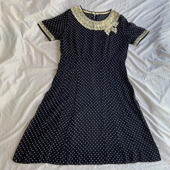 Early 1940s Polka Dot Dress