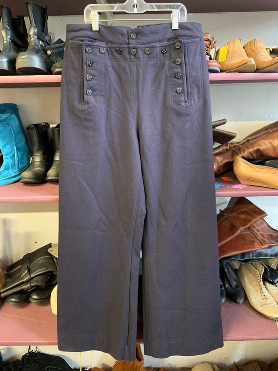 1960s Navy Blue Sailor Pants