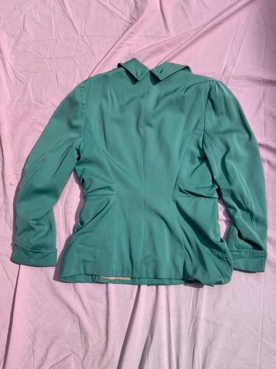 Lilli Ann 1940s Turquoise Jacket - image 2