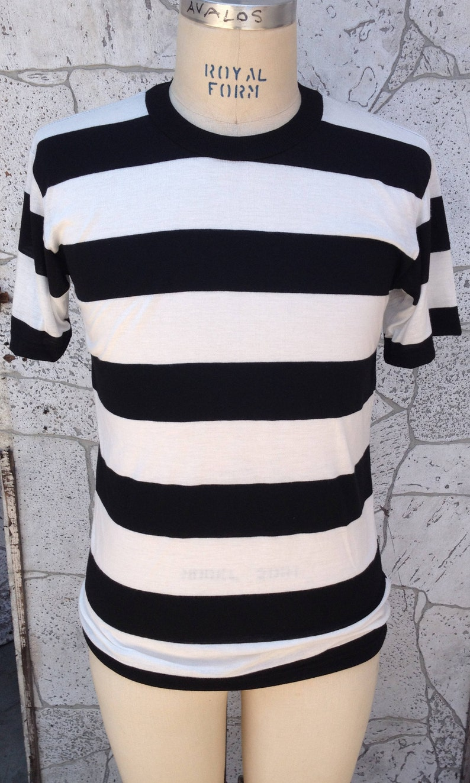 1950s Mens Shirts | Retro Bowling Shirts, Vintage Hawaiian Shirts Avalos 1950s Style T-Shirt // Horizontal Stripe 100% Cotton // Elvis Presley // Rockabilly // Reproduction // New $25.00 AT vintagedancer.com