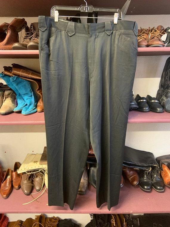 1950s Black Western Pants