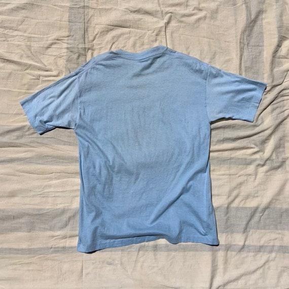 1980s Baby Blue Marathon T-Shirt - image 2