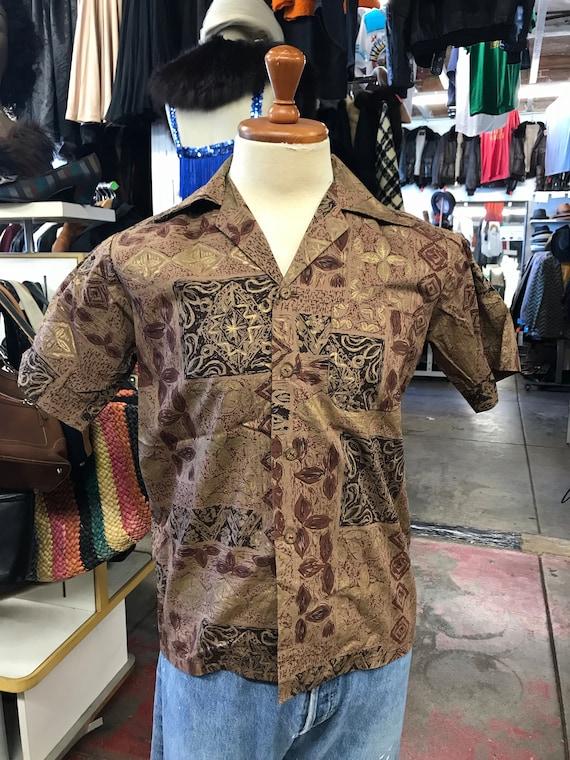 Men's Hawaiian Shirt Size Large 1950s