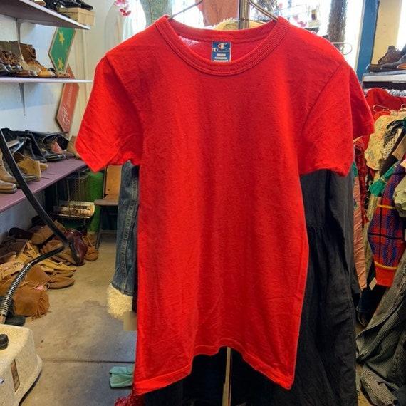 1980s Red Champion Shirt