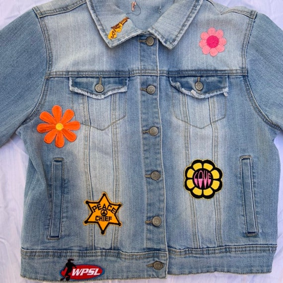 1980s Denim Patch Jacket - image 3
