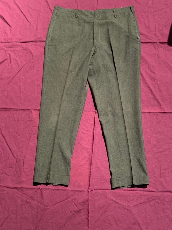 1960's Forest Green Trousers