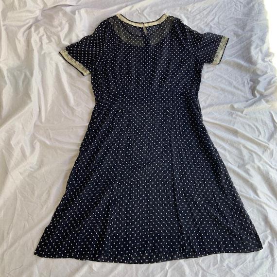 Early 1940s Polka Dot Dress - image 2