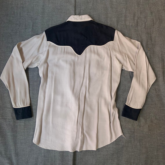 1950s Black and Grey Western Shirt - image 2
