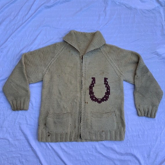 1950s Cowichan Horse Sweater