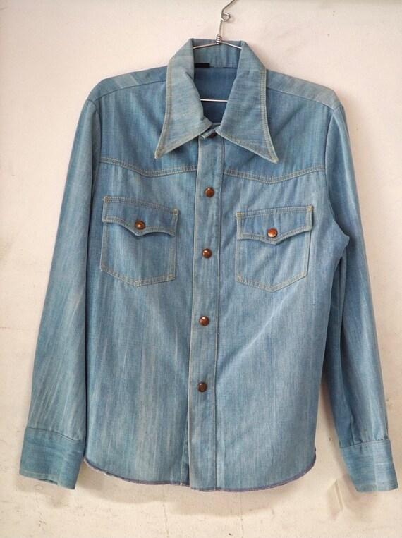 1970's Men's Denim Shirt Jacket made in Canada