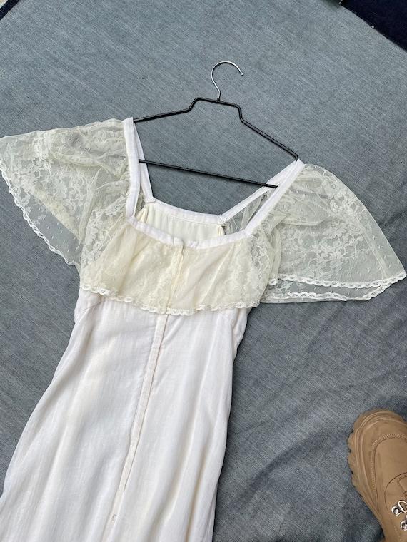 1970s Gunne Sax Style Maxi Dress - image 3