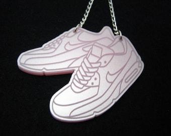 Sneaker Necklace // Shoe Necklace // Laser Cut Necklace // Acrylic Necklace // Perspex Necklace // Kicks Necklace