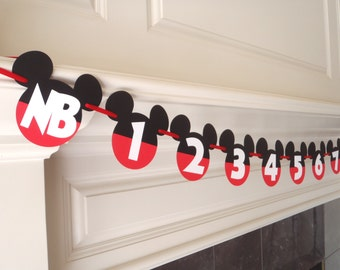 Mickey Mouse Photo Banner First Year Birthday by FeistyFarmersWife