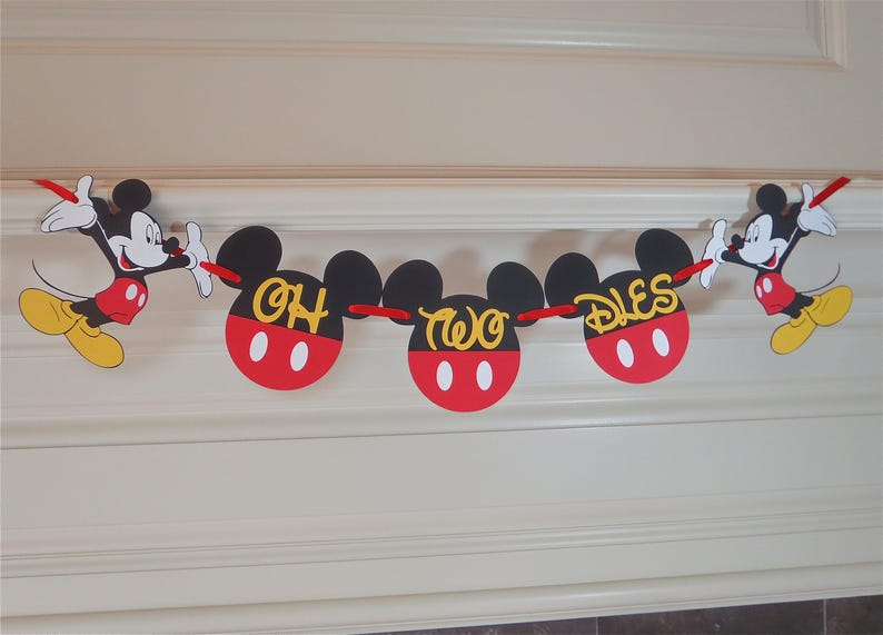 Mickey Mouse Birthday Party Banner Oh Two Dles 2nd
