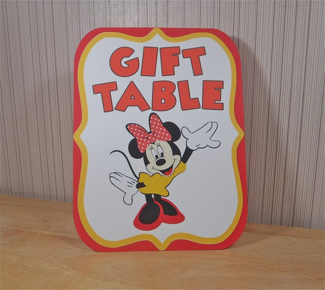 Minnie Mouse Birthday Party Sign Gift Table Decoration Mickey Clubhouse By FeistyFarmersWife