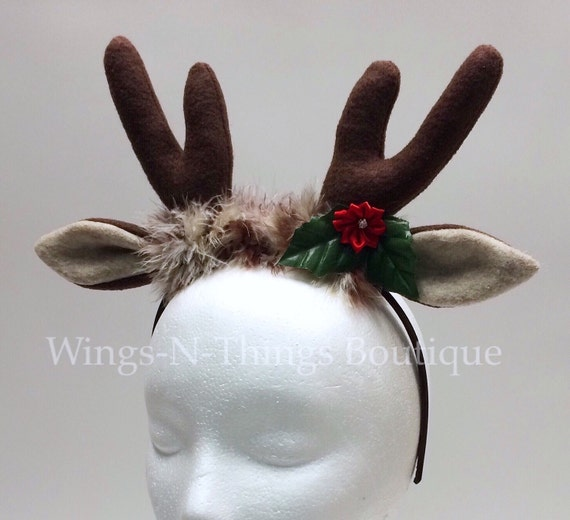 REINDEER ANTLER HEADBAND Christmas Costume Accesssory Gift