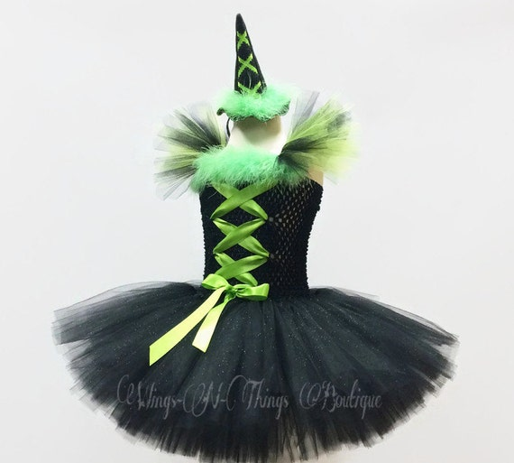 Halloween Witch Tutu Hat Headband Costume Party Fancy Dress Purple Black S Small