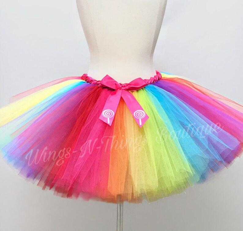 44933c0dee CANDY RAINBOW TUTU Skirt Kids Halloween Costume Girls Baby | Etsy