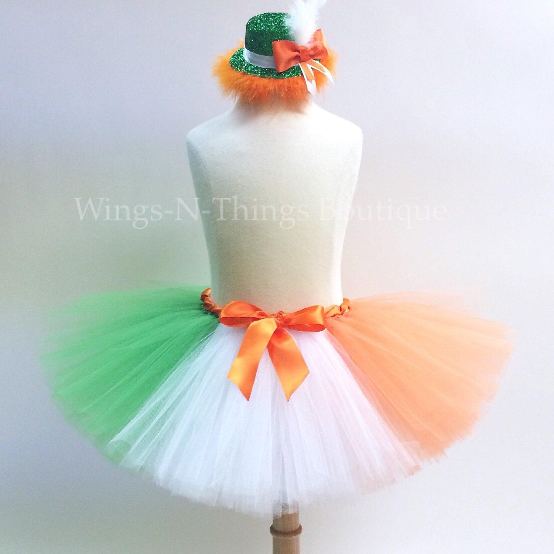 9f7403c436 ADULT IRISH FLAG Running Tutu Skirt Set w/ Leprechaun Hat | Etsy