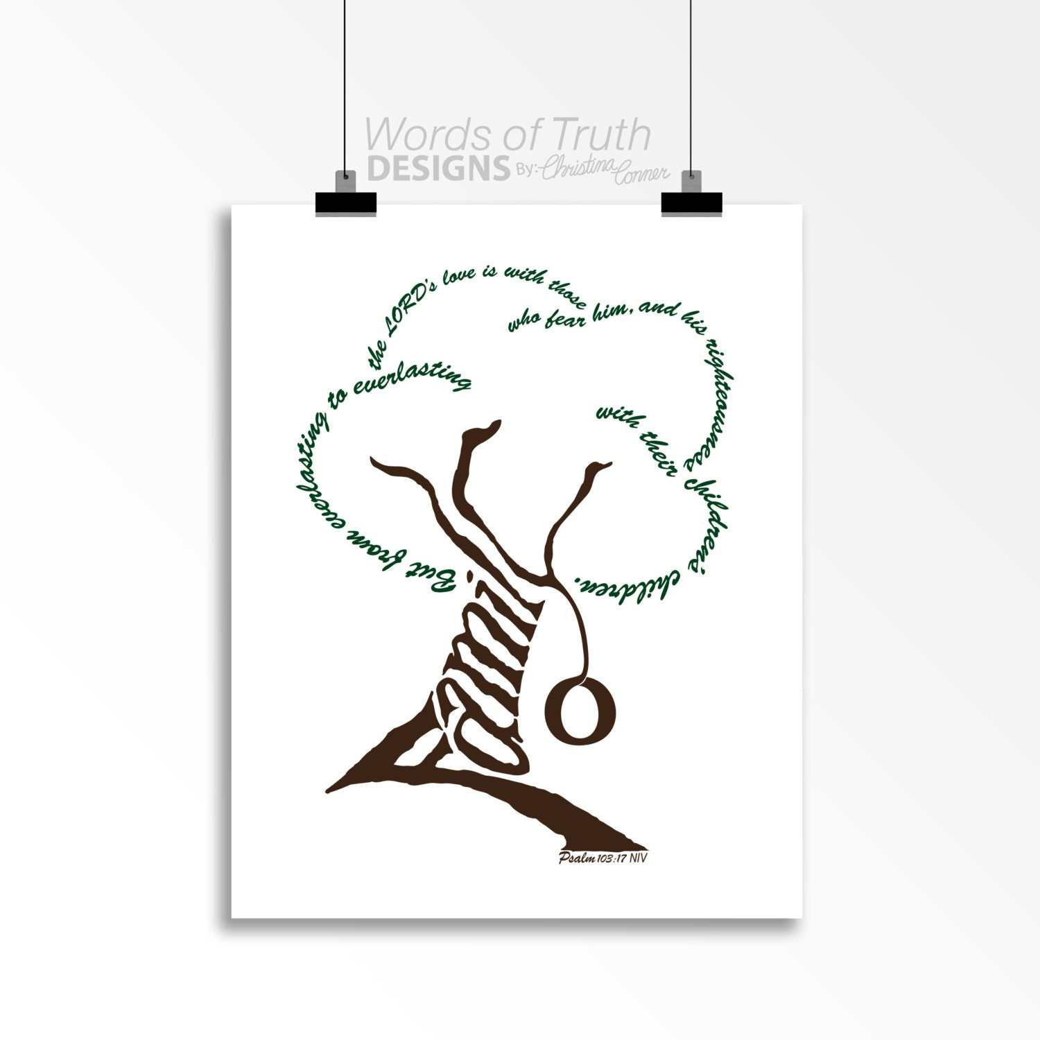 family tree word art print scripture psalm 103 7 etsy