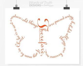 Butterfly - 2 Corinthians 5:17 - New Believer - New Creation - Scripture