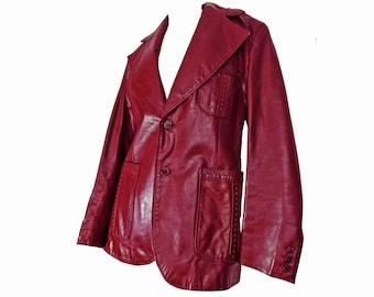 6176e6515 70s leather jacket   Etsy
