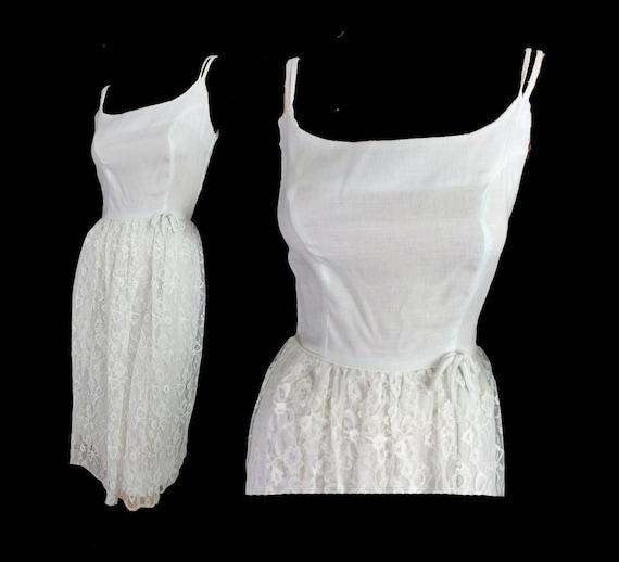 Vintage 60s Dress White Lace Sundress Vintage 1960s Summer Etsy