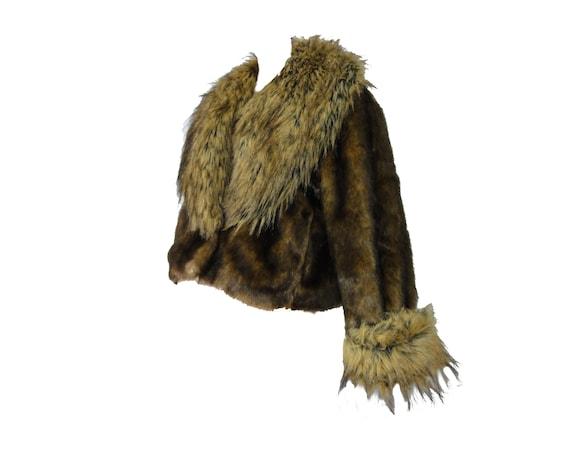"""Vintage 80s Fake Fur Coat """"Donna Salyer's Fabulous"""