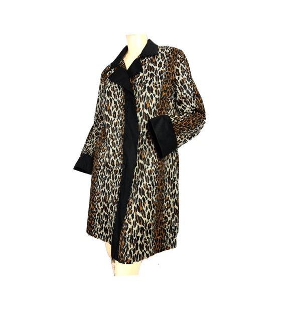 Vintage 50s Vanity Fair Robe Leopard Print Nylon Short Etsy