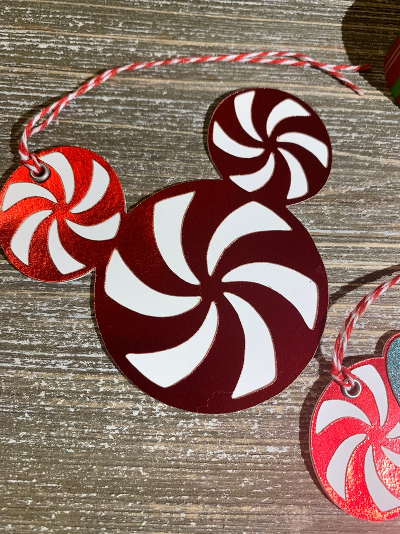 MickeyMinnie Candy Cane tags