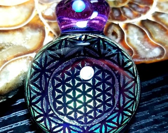 Sacred Geometry Dichroic Glass Pendant