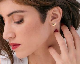 eye stud earrings, evil eye tiny earrings, gold stud earrings, everyday earrings, delicate post earrings