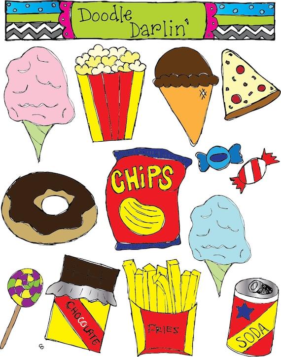 Junk Food COMBO Clipart Set INSTANT DOWNLOAD | Etsy
